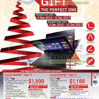 Read more about Lenovo Notebooks, AIO Desktop PCs & Desktop PC Offers 3 Dec 2012 - 6 Jan 2013