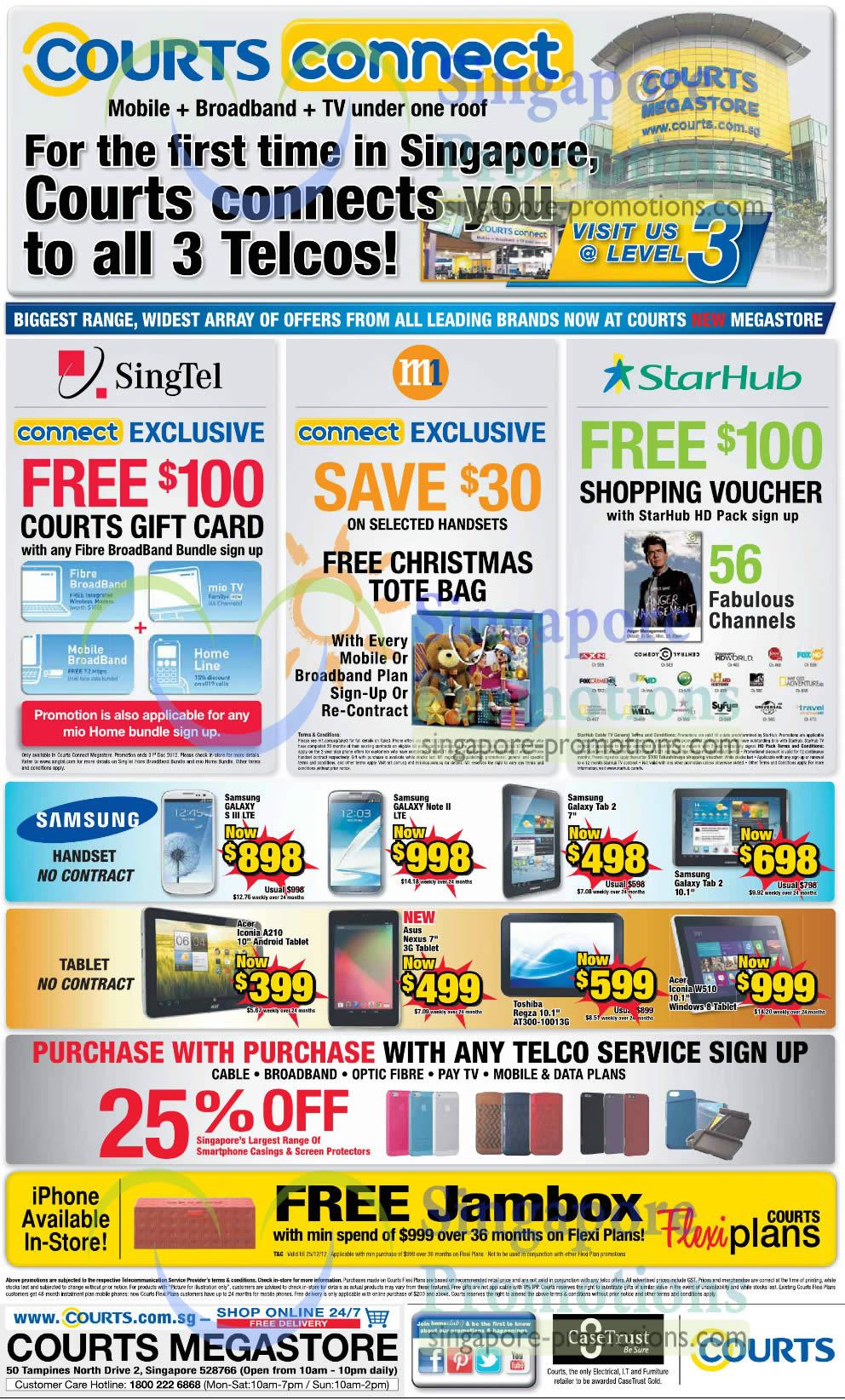 Smartphones, Tablets, Singtel, M1, Starhub Deals