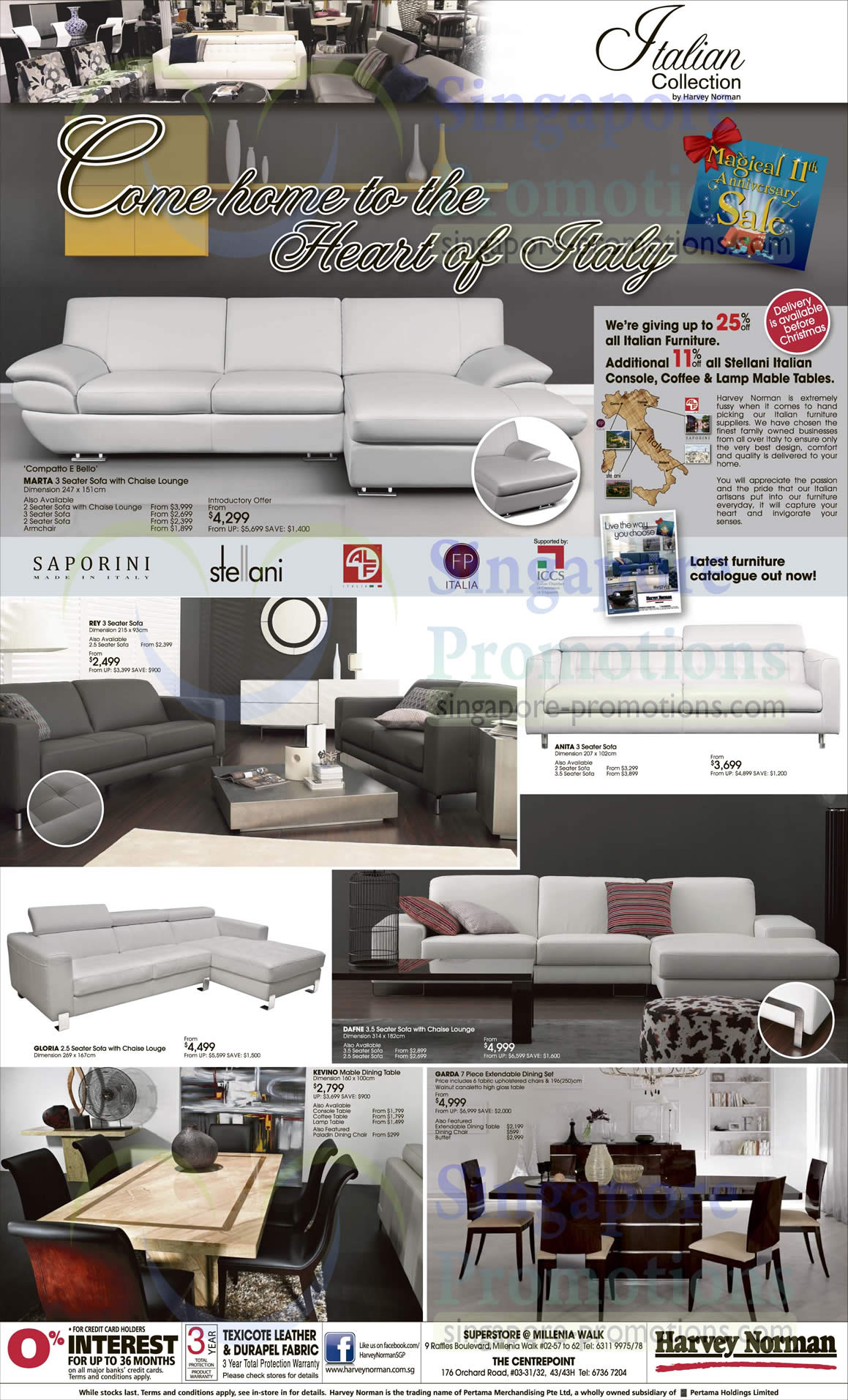Sofa Sets, Dining Tables, Marta, Anita, Dafne, Kevino, Garda, Gloria, Kevino