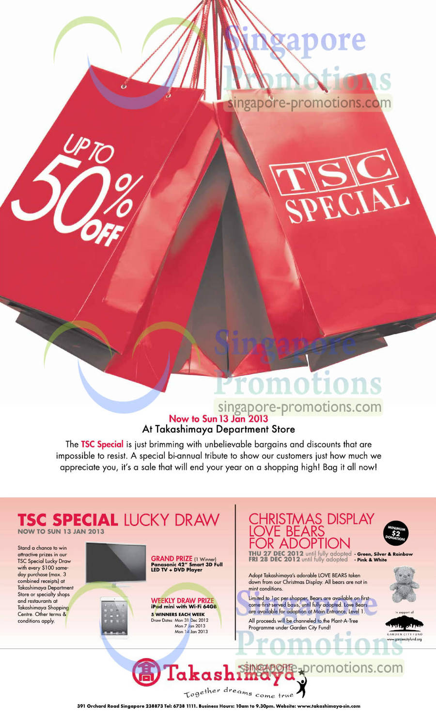 TSC Special, Lucky Draw, Love Bears For Adoption