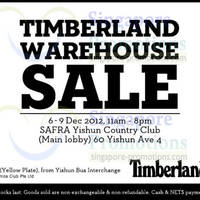 Read more about Timberland Warehouse Sale @ Safra Yishun 6 - 9 Dec 2012
