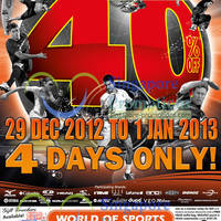 Read more about World of Sports 40% Off Sale 29 Dec 2012 - 1 Jan 2013