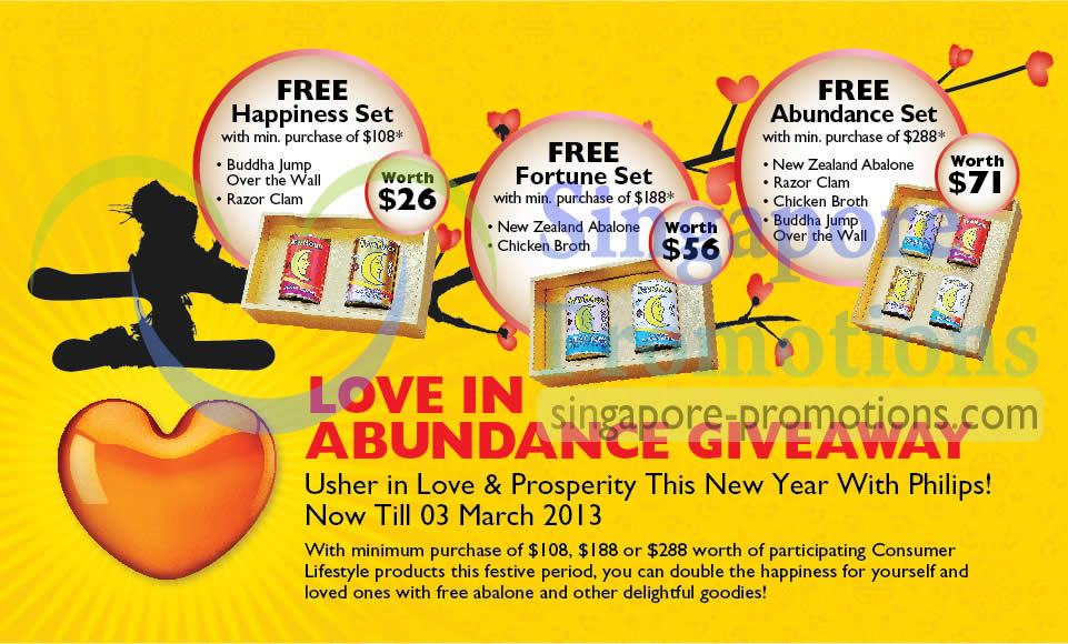 25 Jan Free Abalone Gifts With Minimum Purchase