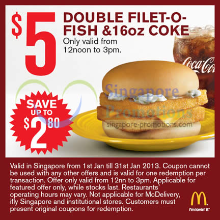 Double filet o fish n 16oz coke mcdonald s for Mcdonalds fish fillet deal