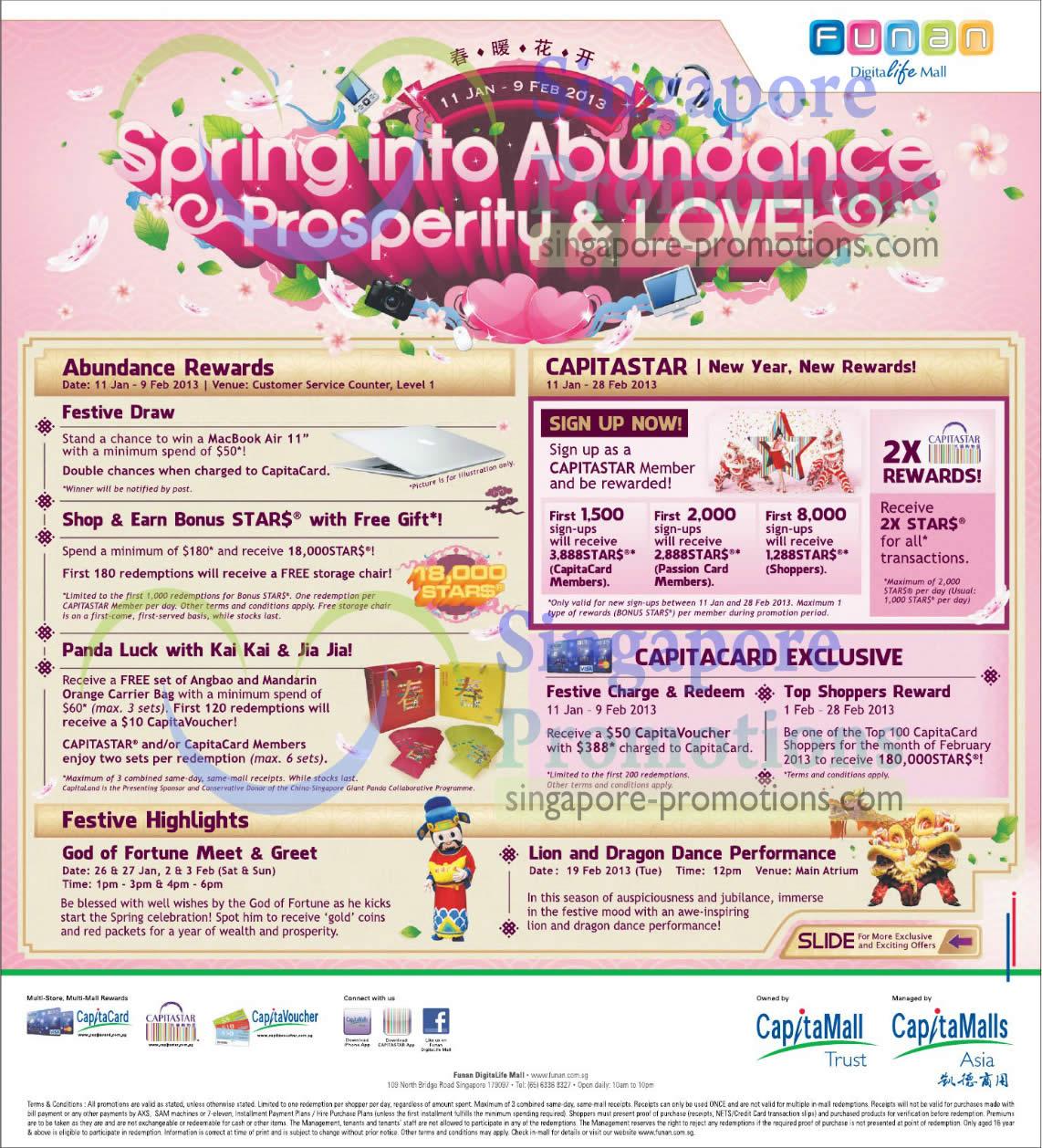 Abundance Rewards, Capitastar, Festive Highlights