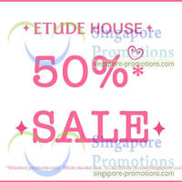 Read more about Etude House 50% Off Selected Items Sale @ Islandwide 22 Jan 2013