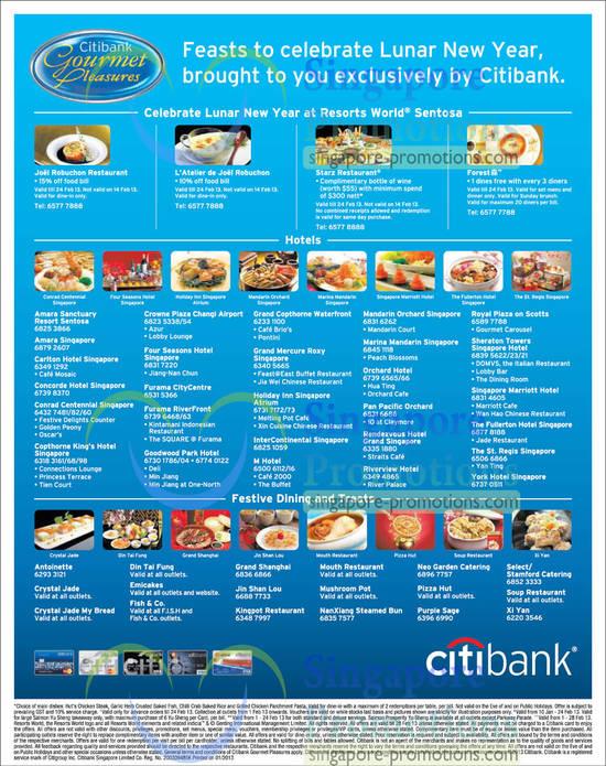 List of Hotels, Restaurants