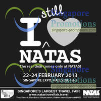 Read more about NATAS Fair 2013 (Feb 2013) Travel Fair @ Singapore Expo 22 - 24 Feb 2013