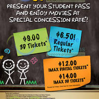 Read more about Shaw Theatres Student Concession Promotion 7 Jan - 31 Dec 2013