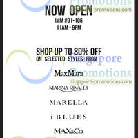 Read more about The Sale Shop Up To 80% Off MaxMara, iBlues & More @ IMM 31 Jan 2013