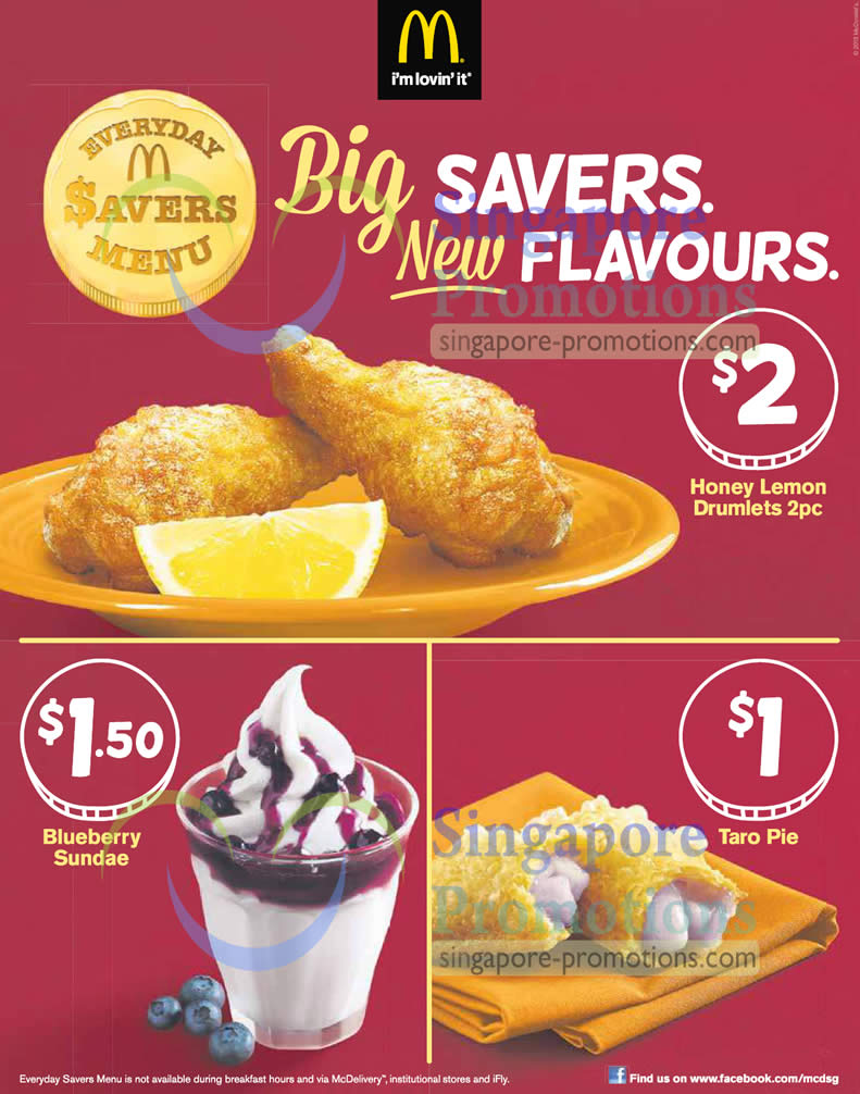 New Flavours - Honey Lemon Drumlets, Blueberry Sundae, Taro Pie