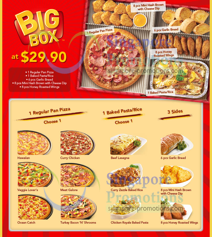 Pizza Hut Delivery New 2990 Big Box Combo Meal 25 Feb 2013