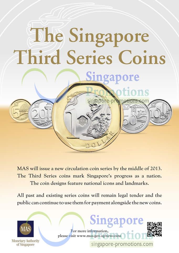 Singapore New Coins 21 Feb 2013