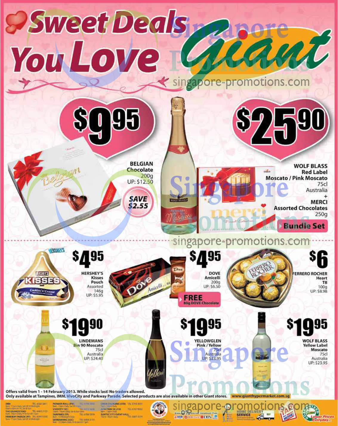 WOLF BLASS Red Label Moscato , WOLF BLASS Red Label Pink Moscato, LINDEMANS Bin 90 Moscato, WOLF BLASS Yellow Label Moscato