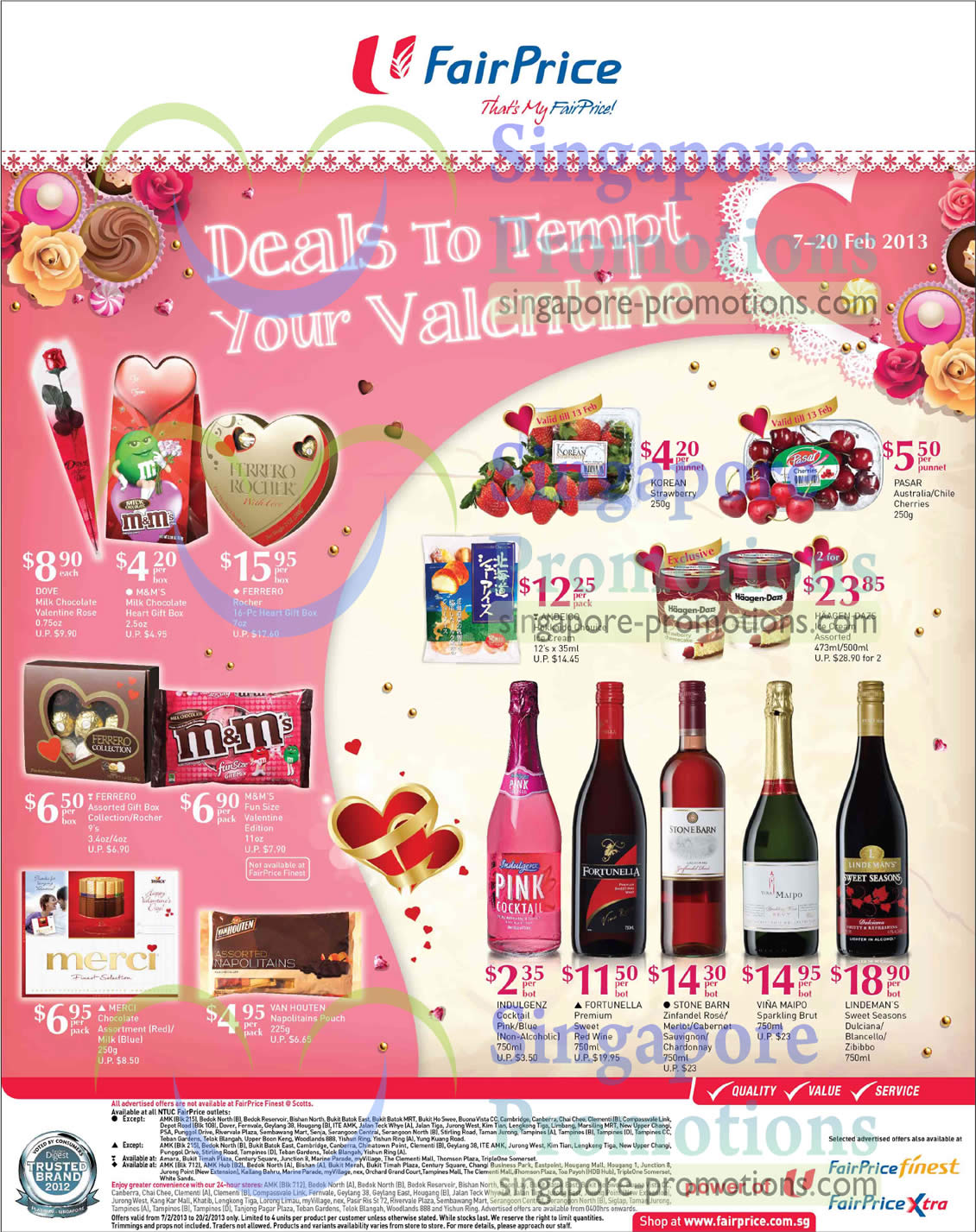 FORTUNELLA Premium Sweet Red Wine, STONE BARN Zinfandel Rose, STONE BARN Merlot, STONE BARN Cabernet Sauvignon , STONE BARN Chardonna, VINA MAIPO Sparkling Brut, LINDEMAN'S Sweet Seasons Dulciana, LINDEMAN'S Blancello, LINDEMAN'S Zibibbo
