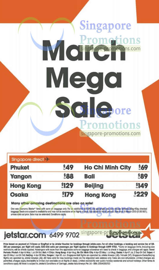 12 Mar Jetstar Asia Promotional Fares