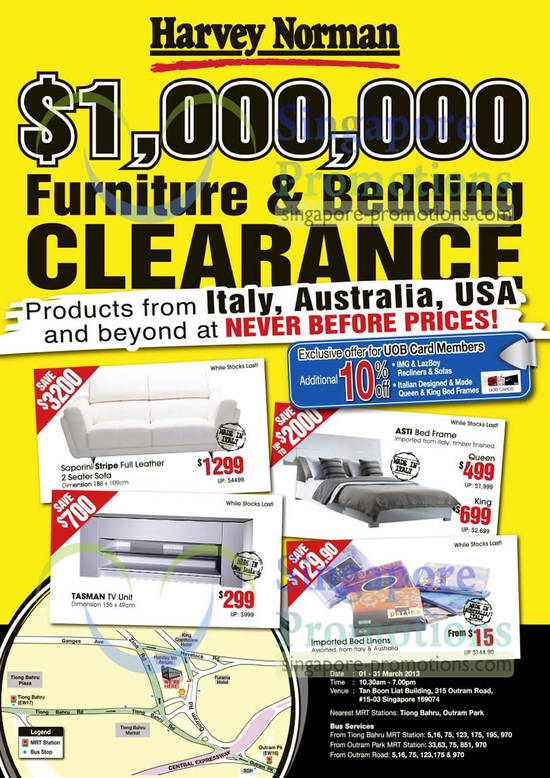 Clearance Sale Venue, Date, Time, Hot Deals, UOB