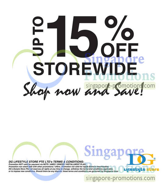 DG Lifestyle Up To 15 Percent Off