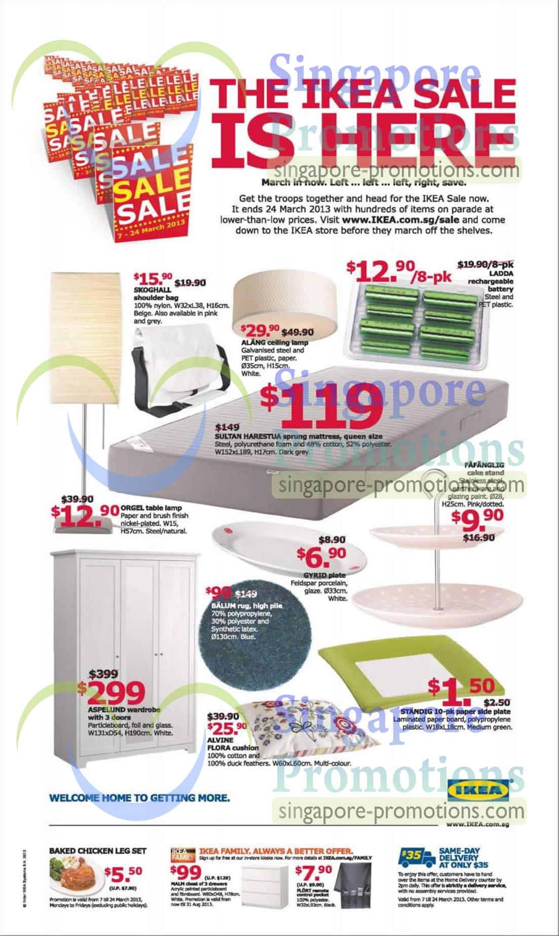 Ikea Sultan Harestua Sprung Mattress, Ikea Balum rug and Ikea Aspelund wardrobe