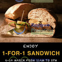 Read more about Joe & Dough 1 For 1 Sandwich Promo @ Millenia Walk 6 - 10 Mar 2013