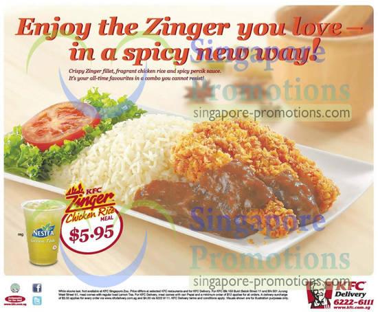 KFC Zinger Chicken Rice Dine In