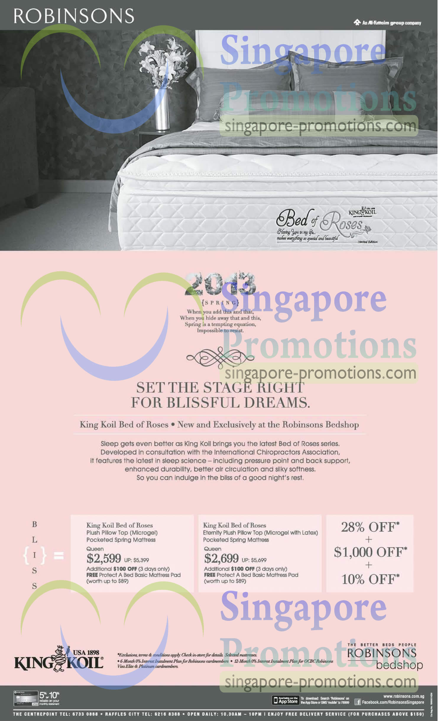 King Koil Bed of Roses Mattress, King Koil Bed of Roses Eternity Mattress
