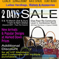Read more about MyBagEmpire Branded Handbags Sale @ Pasir Ris Elias Community Club 9 - 10 Mar 2013