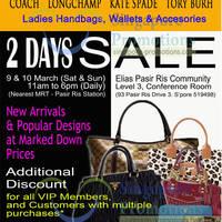 Read more about MyBagEmpire Branded Handbags Sale @ Pasir Ris Elias Community Club 9 - 10 Mar 2013