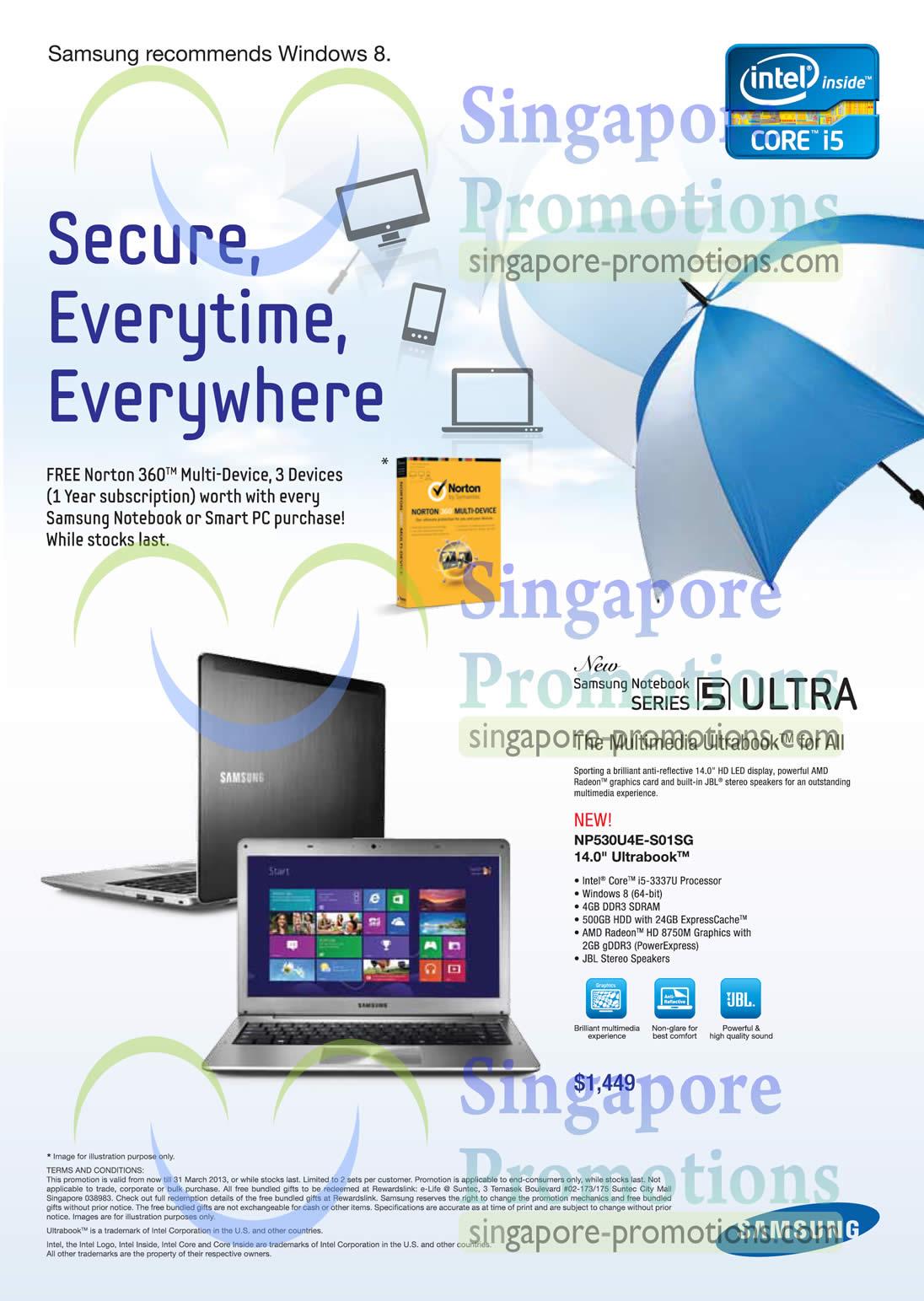 NP530U4E-S01SG 14.0 Ultrabook Notebook