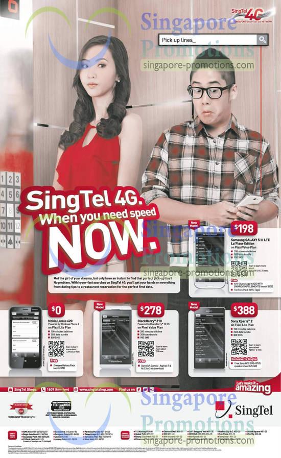 Samsung Galaxy S III LTE, Nokia Lumia 620, Blackberry Z10, Sony Xperia Z
