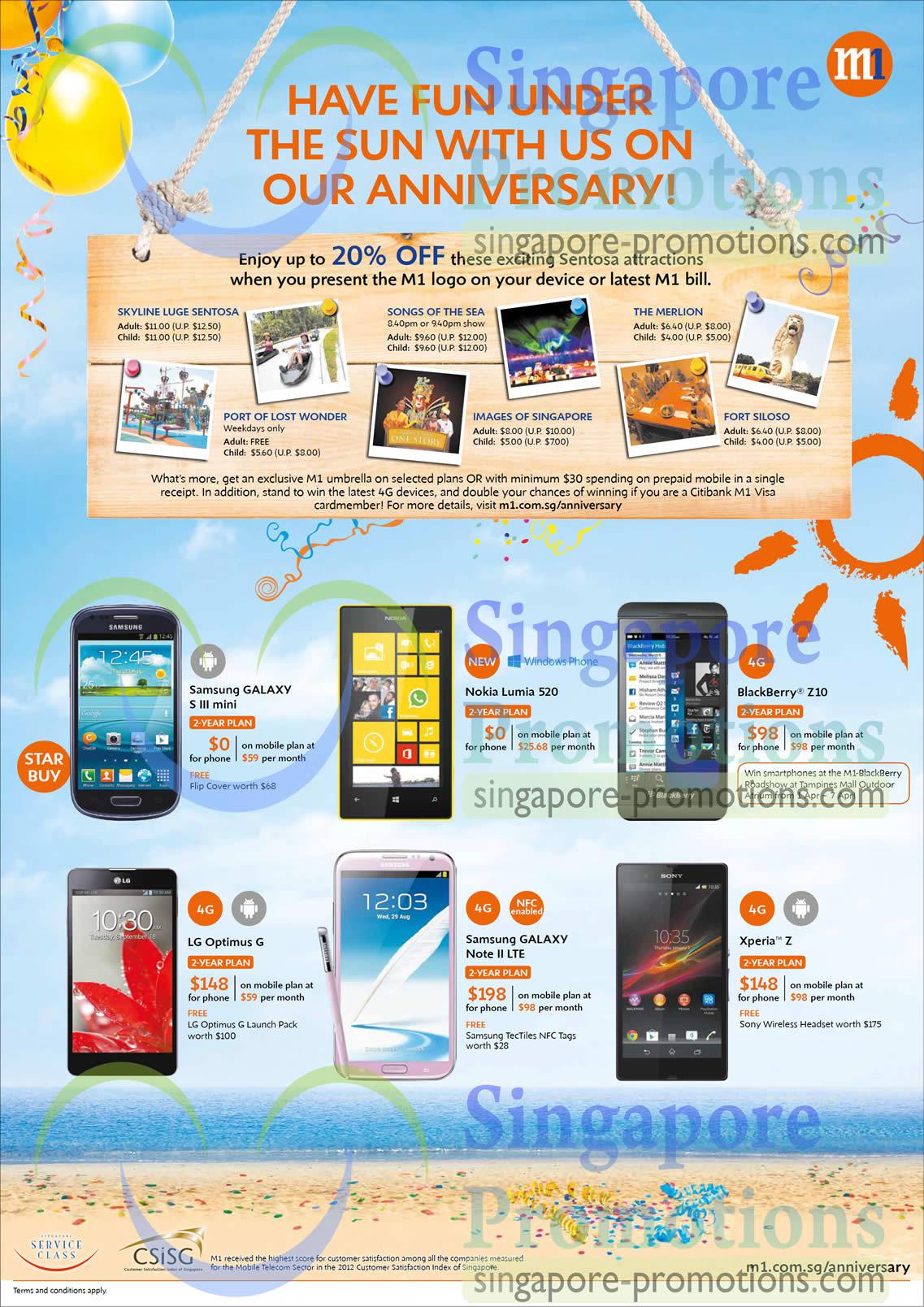 Samsung Galaxy S III Mini, Samsung Galaxy Note II LTE, Nokia Lumia 520, Blackberry Z10, LG Optimus G, Sony Xperiz Z
