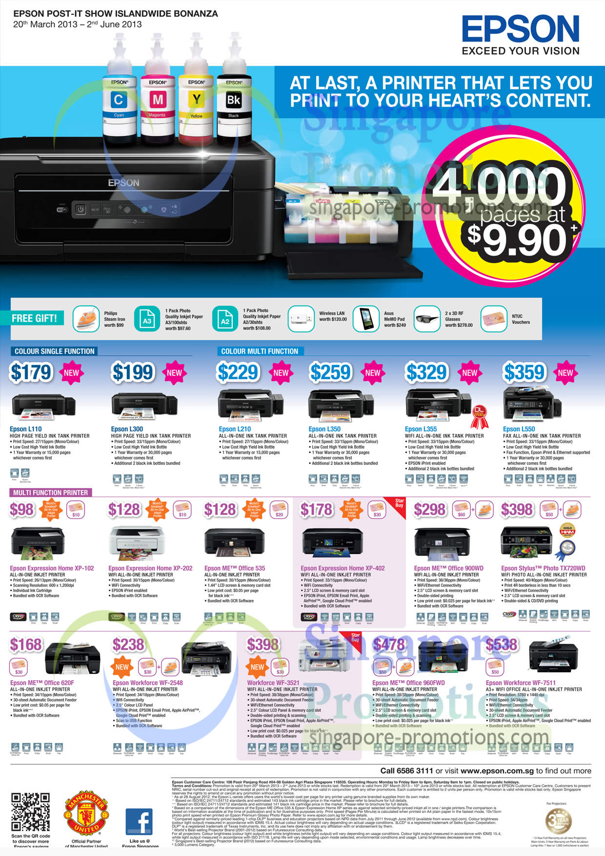 Epson Colour Printer With Scanner Price List