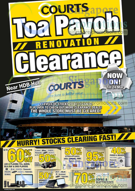 Toa Payoh Renovation Clearance Enjoy Up To 50 Percent off on Digital Cameras, Kitchen Appliances, Tablet, Notebooks