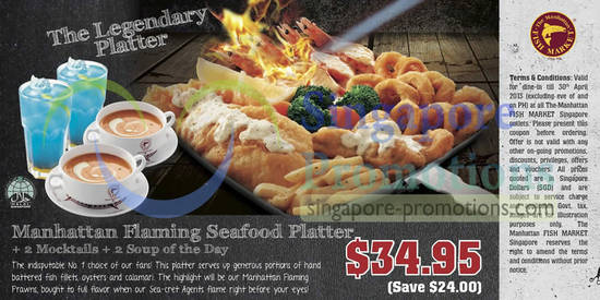 34.95 Manhattan Flaming Seafood Platter