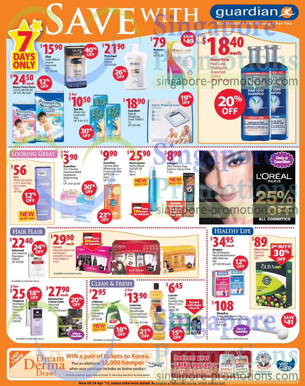 7 Day Deals Reduze, RoC Multi Correxion Anti-Age Eye Cream, Bioglan Rest n Restore Night MultiVitamin MenWomen, Oliva Forte Essence