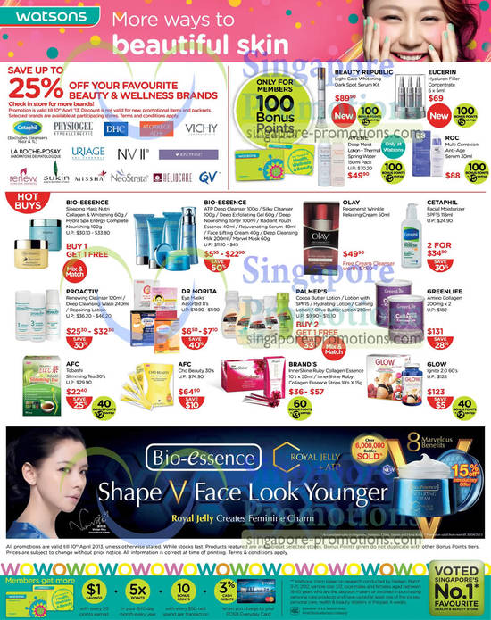 Beauty Republic Light Care Whitening Dark Spot Serum Kit, Eucerin Hyaluron Filler Concentrate, ROC Multi Correxion Anti-Age Serum, AFC Tobashi Slimming Tea, AFC Cho Beauty, Olay Regenerist Wrinkle Relaxing Cream, Greenlife Amino Collagen, Glow Ignite 2.0