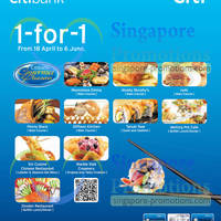 Read more about Citibank 1 For 1 Dining Offers @ Various Outlets 18 Apr - 6 Jun 2013