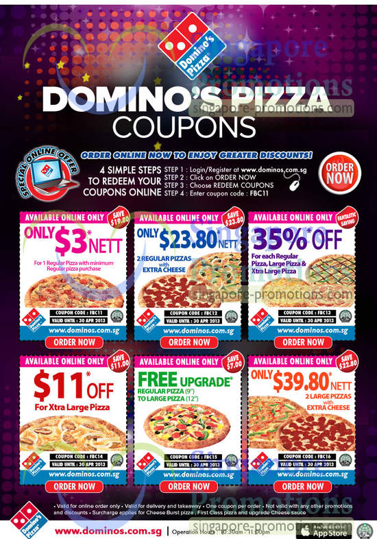 Dominos delivery coupons india