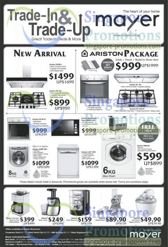 Mayer Ariston Amp Natural Appliances Offers 19 Apr 2013