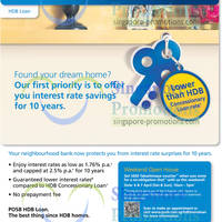 Read more about POSB New HDB Loan Featuring 1.76% Interest Rate 1 Apr 2013