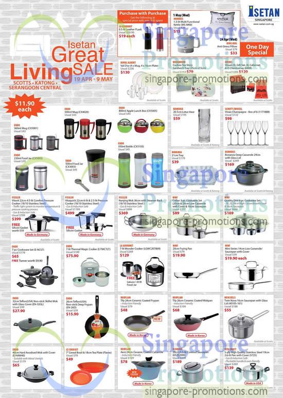Pans, Mugs, Cookware Sets, Endo, La Gourmet, WMF, Neoflam, Fissler, Scanpan