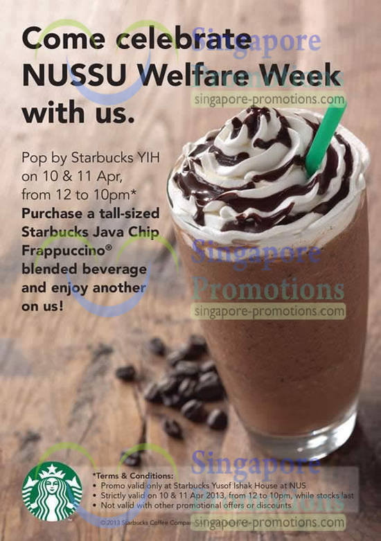 Starbucks NUS 1 For 1 Promo Details