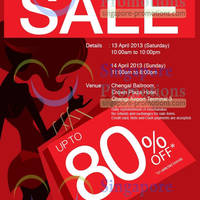 Read more about Valiram Luxury Sale Up To 80% Off @ Changi Airport 13 - 14 Apr 2013