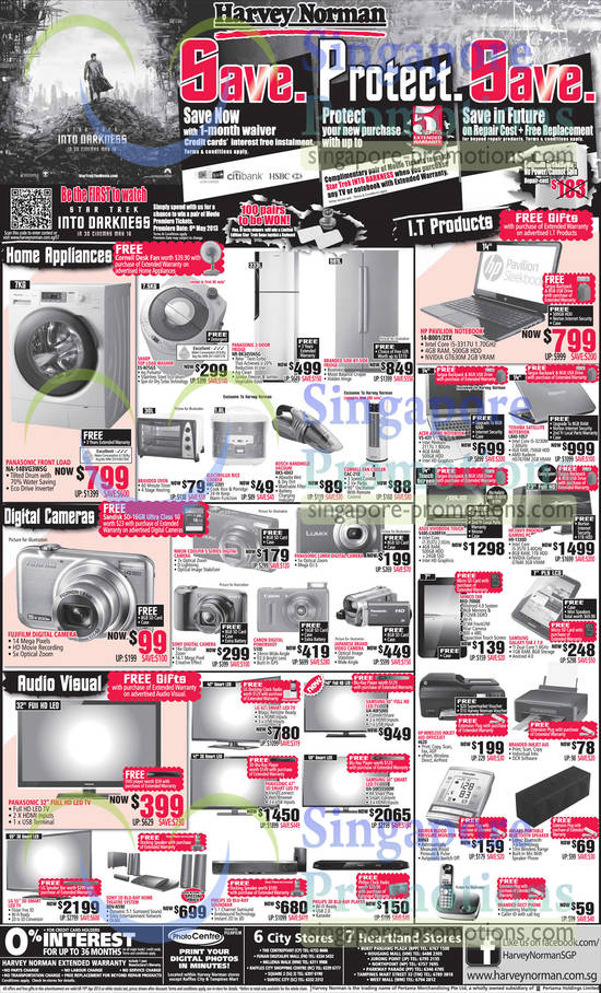 Panasonic NA-148VG3WSG Washer, Sharp ESN75GS Washer, Panasonic NR-BK345SNSG Fridge, Electrolux ERC-2201 Rice Cooker, Bosch BKS-4043 Vacuum Cleaner, Cornell CAC-21B Fan Cooler, HP Pavilion 14-B001 Notebook, HP Pavilion 14-B002TX Notebook, Acer Aspire V5-431 Notebook, Toshiba Satellite L840-1057 Notebook, ASUS Vivobook S400-CA0891H Touch Notebook, HP Envy Phoenix H9-1330D Desktop PC, Shinco MID-7000B, Samsung Galaxy Tab 2 7.0, HP Officejet 4620 Inkjet Printer, Beurer BM60 Blood Pressure Monitor, Sony BDV-N590 Blu Ray Home Theatre System, Samsung UA-40F5000 LED TV, Samsung UA-50ES5500M LED TV