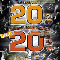 Read more about World of Sports 20% Off Selected Items Promo 19 Apr - 5 May 2013