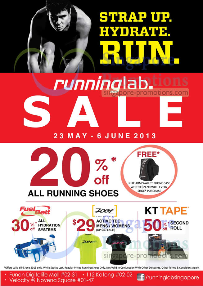 20 Percent Off Running Shoes, 30 Percent Hydration Systems