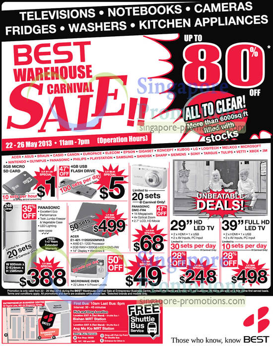 22 May Limited Deals, Acer E1-421-11202G50Mnks Notebook, Panasonic DMC-FH4 Digital Camera, LED TV