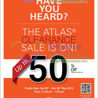 Read more about Atlas Bose and Loewe Annual Clearance Up To 50% Off Sale @ TripleOne Somerset 25 - 26 May 2013