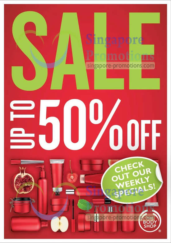 Body Shop Up To 50 Percent Off Sale