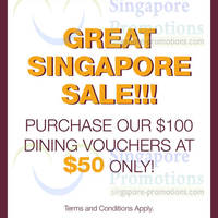 Read more about Creative Eateries 50% Off $100 Dining Vouchers 10 - 25 May 2013